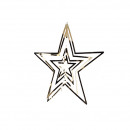 wholesale Decoration: Metal star Saturn for hanging, height 10cm